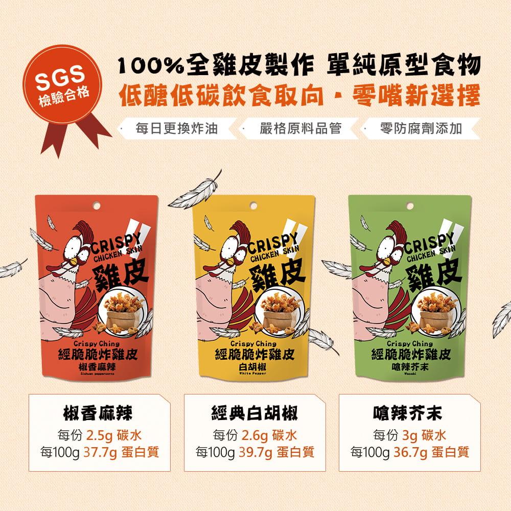 【經脆脆Crispy Ching】酥炸雞皮低碳高蛋白餅乾 0