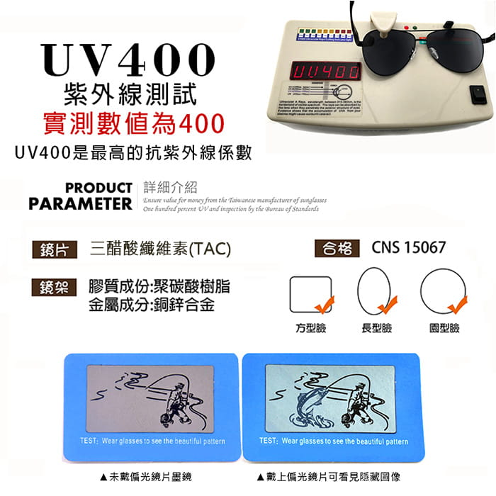 【suns】鋁鎂合金飛行員偏光太陽眼鏡 抗UV (W0201) 19
