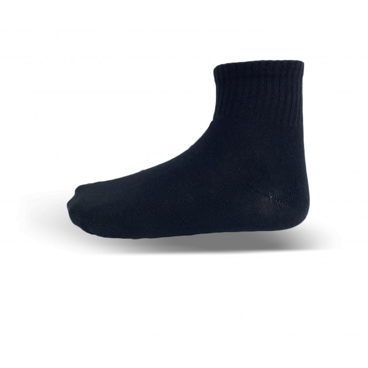 天然棉-薄底短襪(白) 1