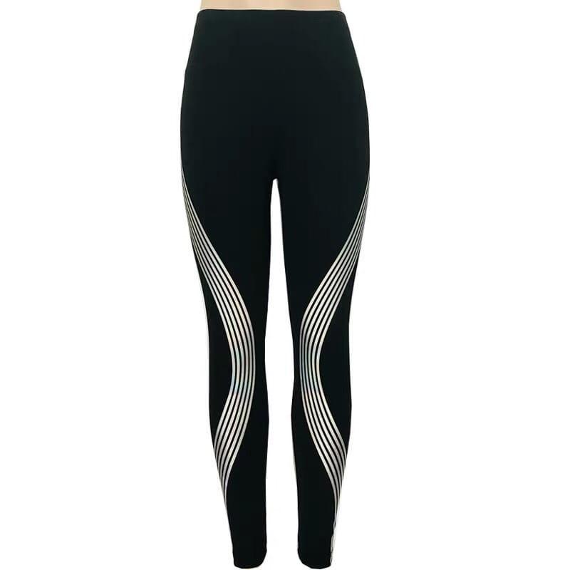 運動長褲韻律有氧跑步瑜珈-KOI 顯瘦修身 反光設計 夜跑走路安全易見有保障 7