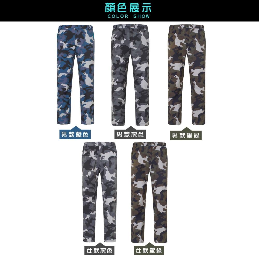 【NEW FORCE】迷彩戶外機能保暖衝鋒褲-男女款 6