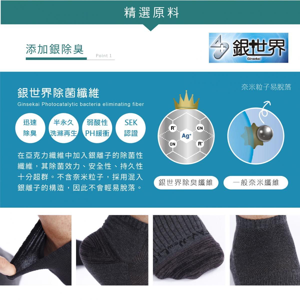【FAV】除臭運動襪 (一般底、毛巾底) 1