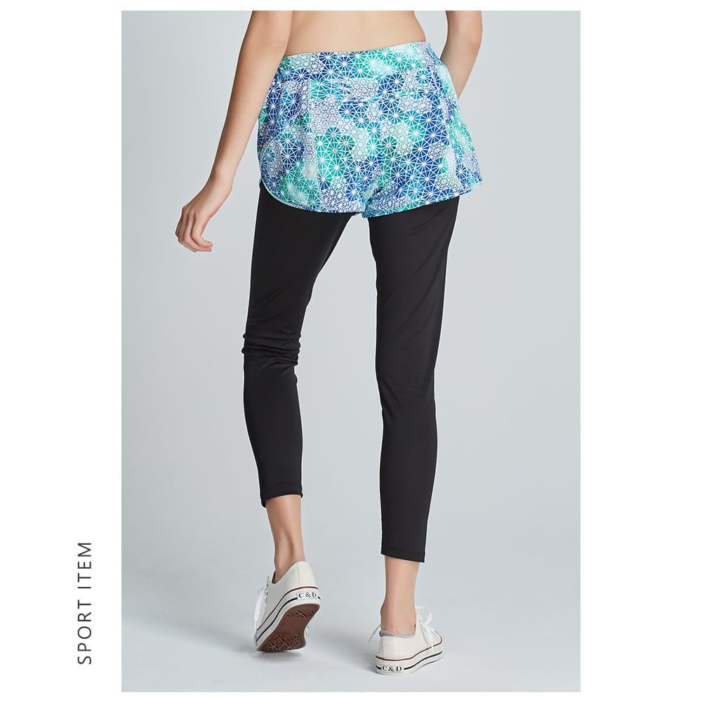 【yulab】(台灣製)女彈性數位假兩件內搭褲-2色可選 8