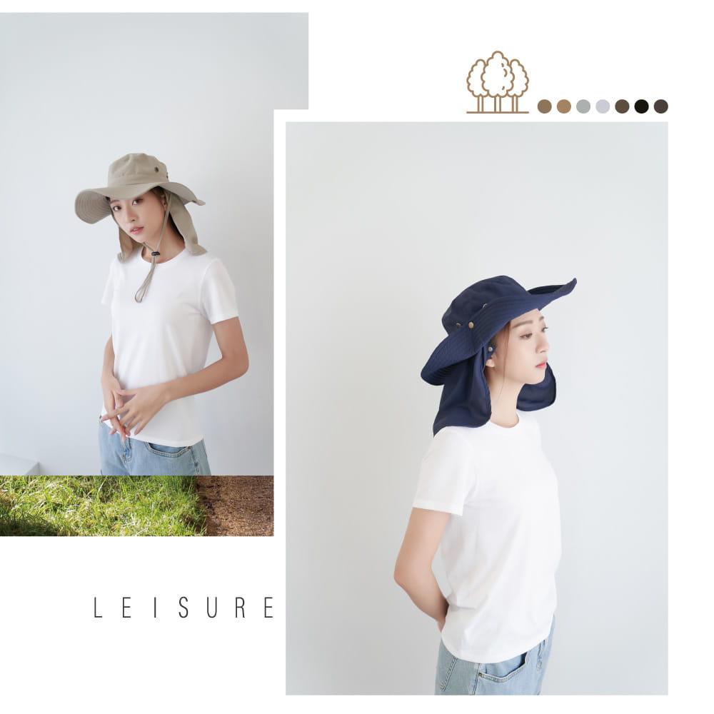 【Peilou】UPF50+多功能休閒遮陽帽-男女款 7