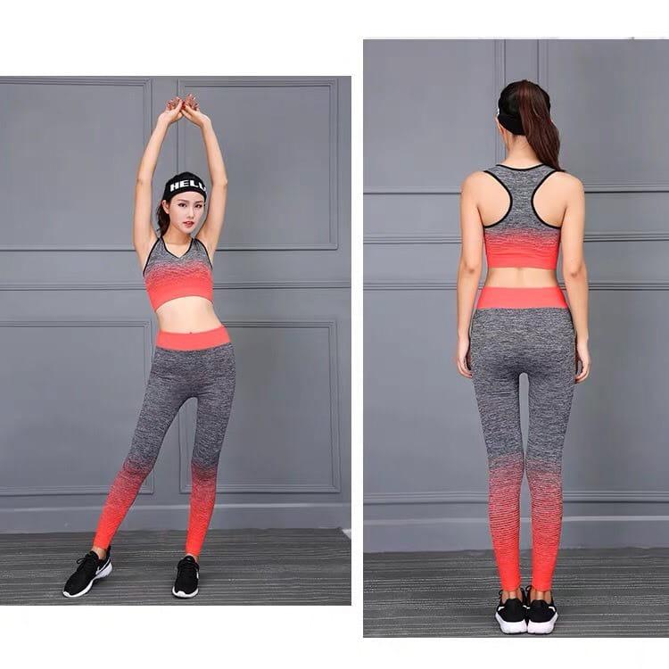 運動套裝漸層色織花韻律跑步瑜珈LETS SEA-KOI限量買一送一 0
