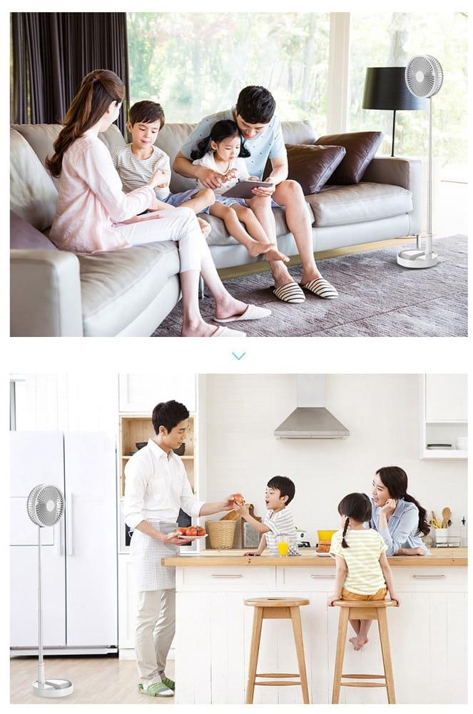 Lileng P9 免插電USB風扇//落地風扇/超靜音/自然風/辨公室/居家兩用 11