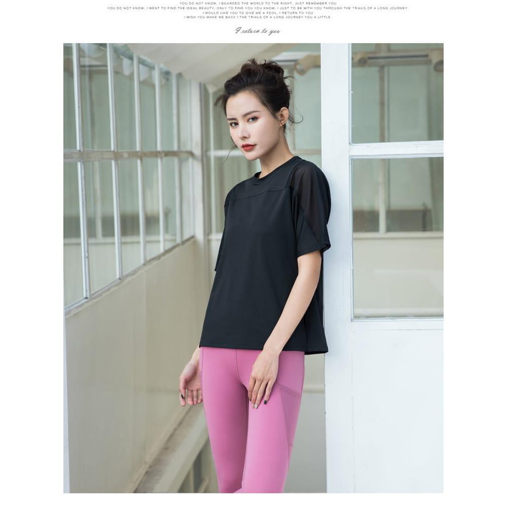 【NEW FORCE】寬鬆透氣健身瑜珈女上衣-3色可選 4