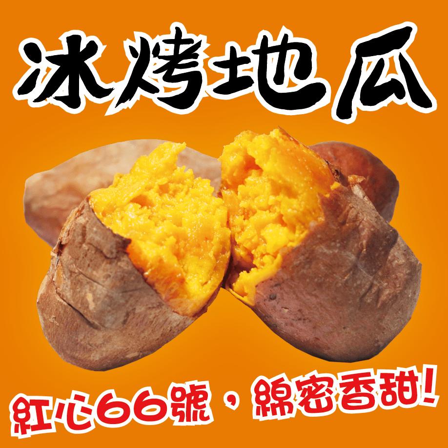 【田食原】新鮮紅心冰烤地瓜 1200g 養生健康減醣 健身餐