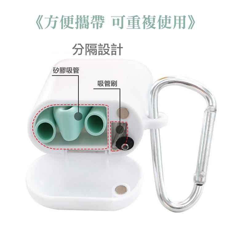 可摺疊矽膠吸管便攜盒 7