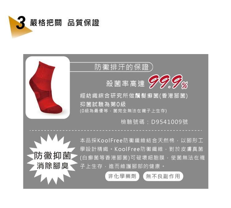 【旅行家】8字加壓排汗運動短襪 5