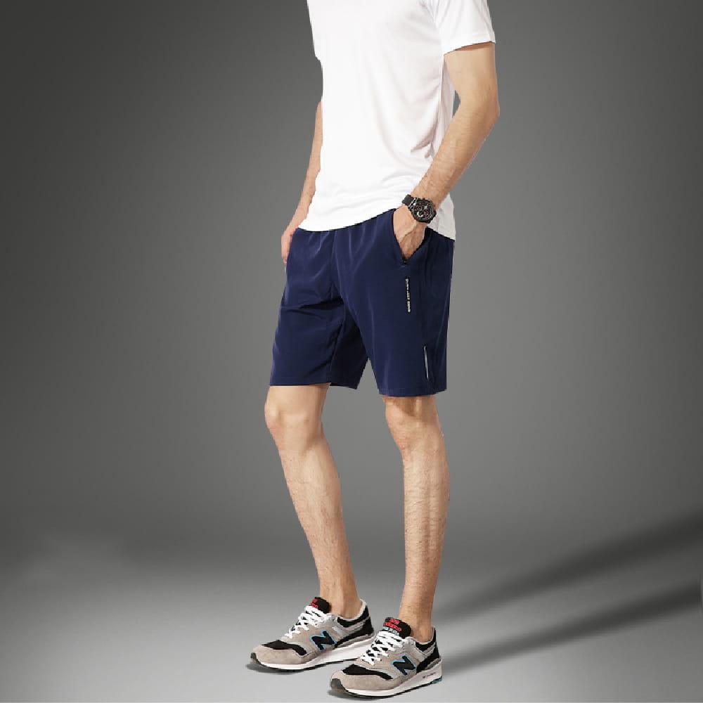 【NEW FORCE】清爽透氣速乾健身短褲-2色可選 9