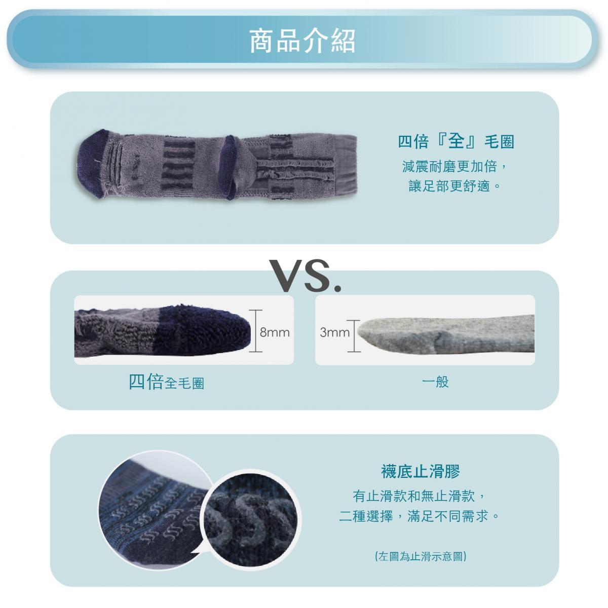 【FAV】止滑加厚保暖登山襪 3