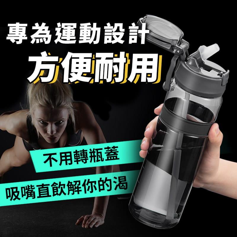 進口Tritan材質運動吸管水壺 2