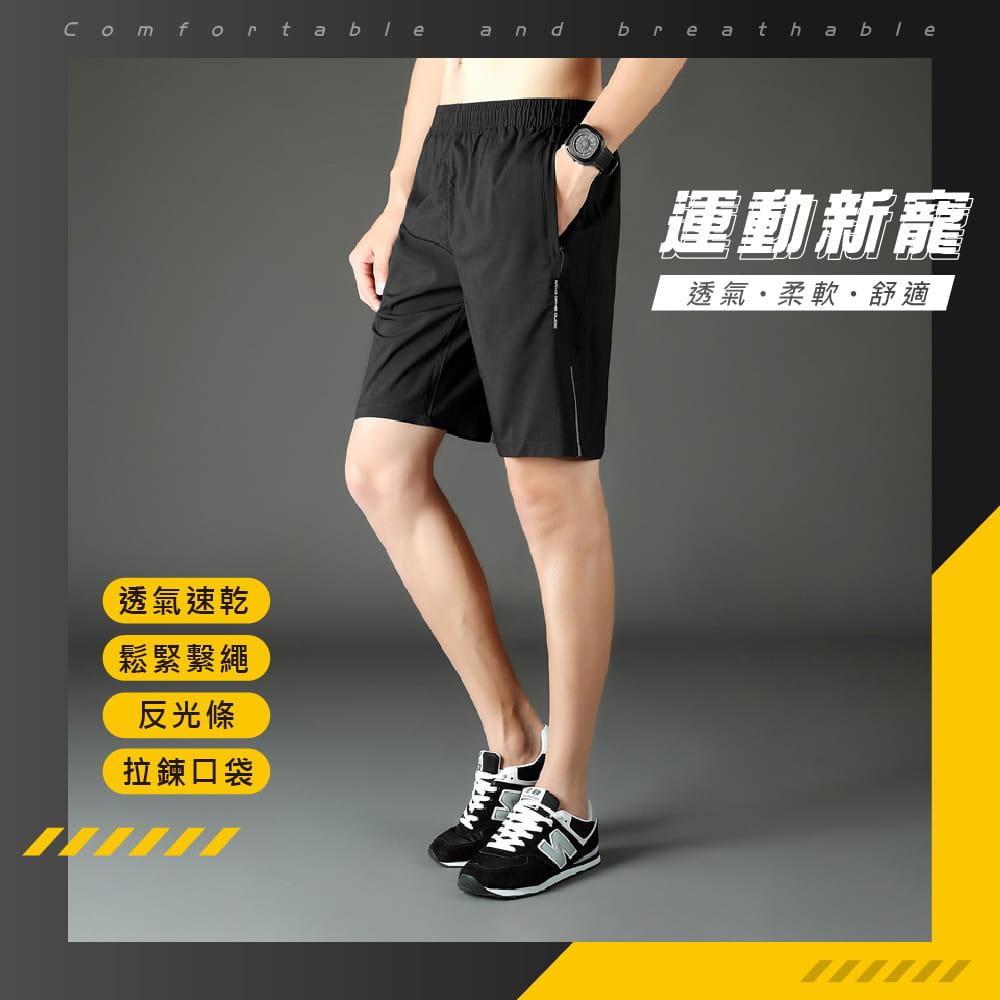 【NEW FORCE】清爽透氣速乾健身短褲-2色可選 1