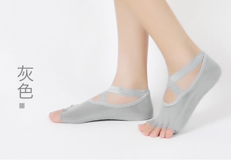 透氣瑜珈防滑五指運動襪 5