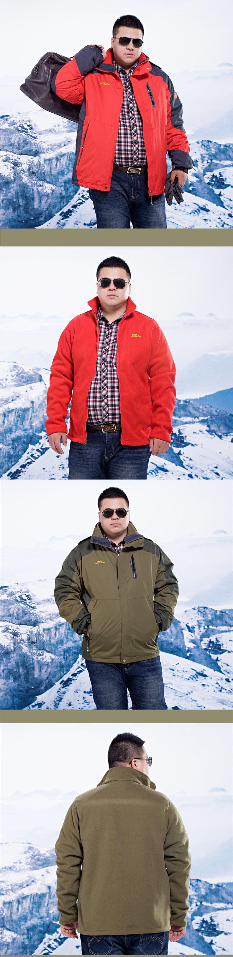 加大碼三合一真禦寒機能衝鋒衣外套  防水防風戶外登山外套 男/女款 XL~8XL【CP16001】 9