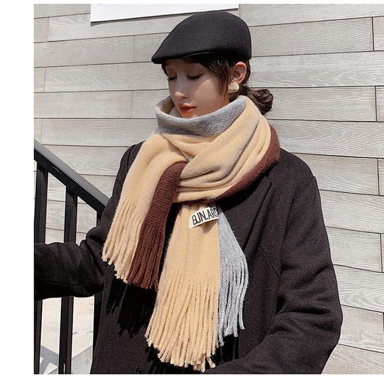 【JAR嚴選】時尚秋冬必備韓版情侶款保暖圍巾 12