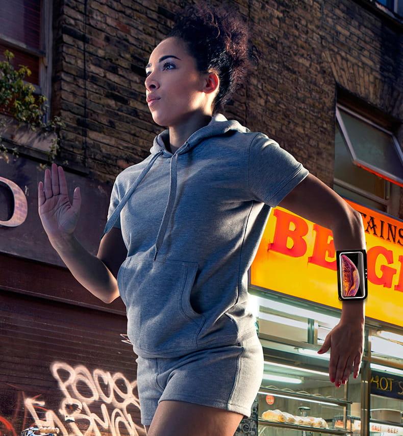 (新品上線)跑步手機臂包男女運動健身手機臂套可觸屏臂袋蘋果8X華為通用手包 5