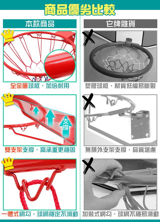 標準18吋金屬籃球框(含籃網)(標準籃框架/耐用籃筐架子) 2