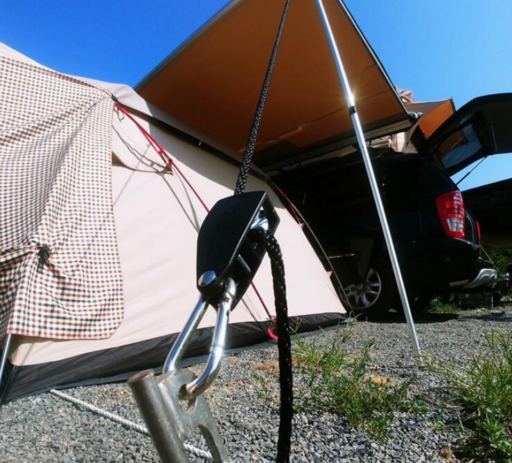 簡便戶外野營滑輪調節繩扣帳篷天幕繩止動扣 3入一組 1