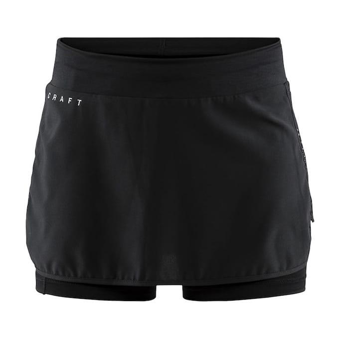 【CRAFT】 二合一運動褲裙 黑 女 0