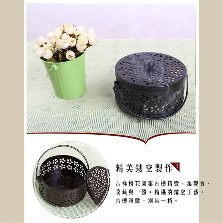 【JAR嚴選】帶蓋安全古典雅致風香薰盒蚊香盒 1