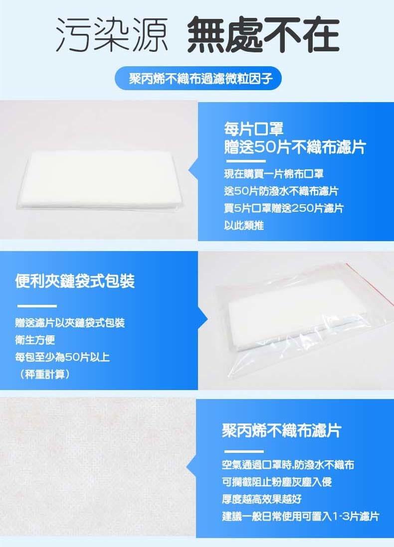 【ELASTI】台灣製MIT成人純棉布可水洗防護口罩(送50片不織布濾片) 9