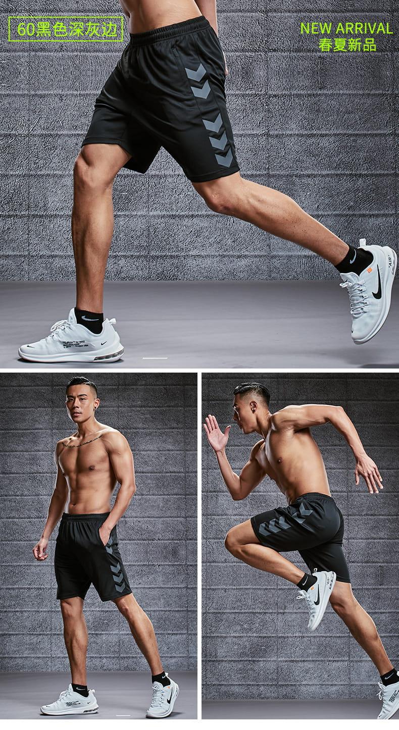 運動短褲男跑步健身速幹休閑五分褲寬松訓練冰絲大碼籃球褲 4