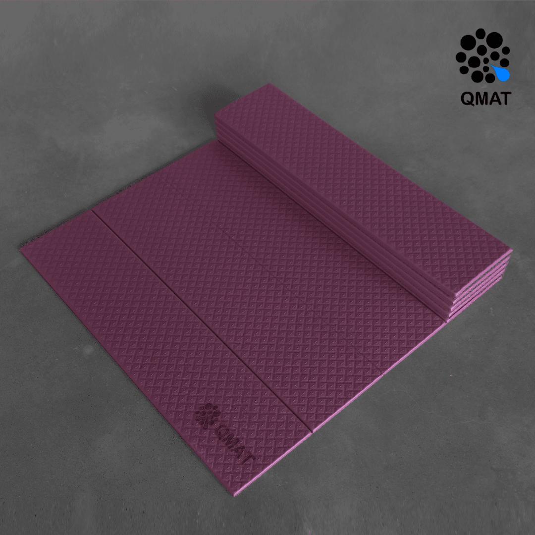 【QMAT】 12折疊瑜珈墊 一般雙色 12