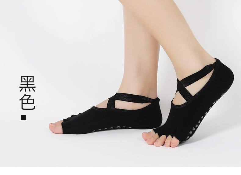 透氣瑜珈防滑五指運動襪 3