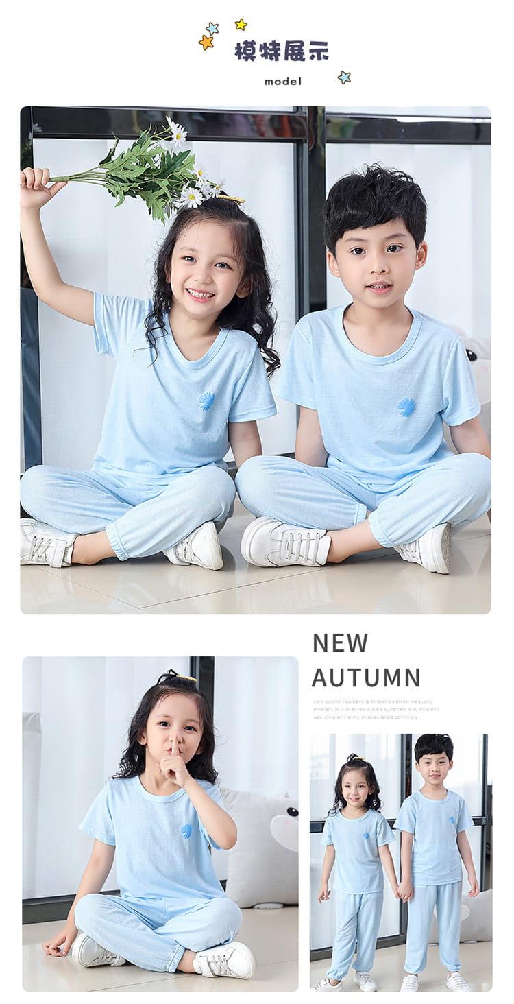 【JAR嚴選】兒童冰絲防蚊休閒兩件套套裝 8