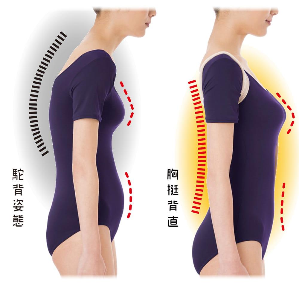 【SUNFAMILY】日本原廠獨家進口 防駝背矯正美姿肩帶(共兩色) 2