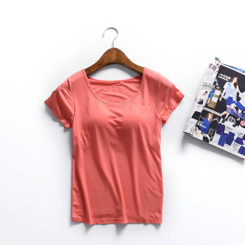 涼感萊卡免穿BRA T恤 12
