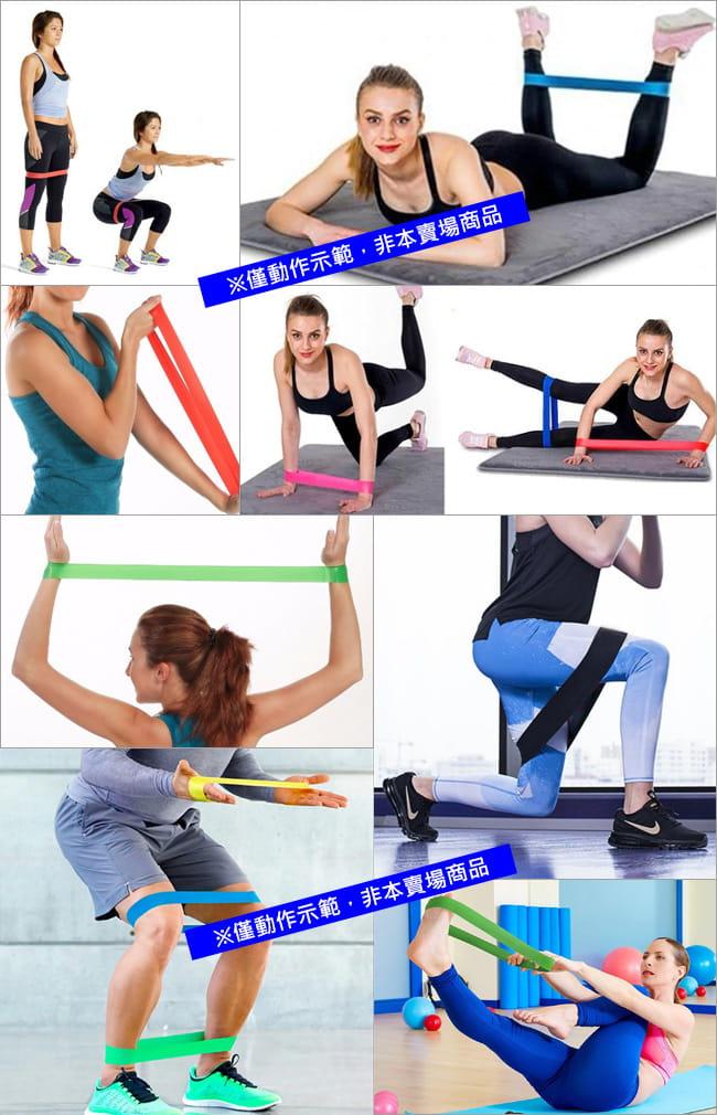 棉質防滑環狀彈力帶(加厚不捲邊) 翹臀圈乳膠阻力繩拉筋阻力帶 7