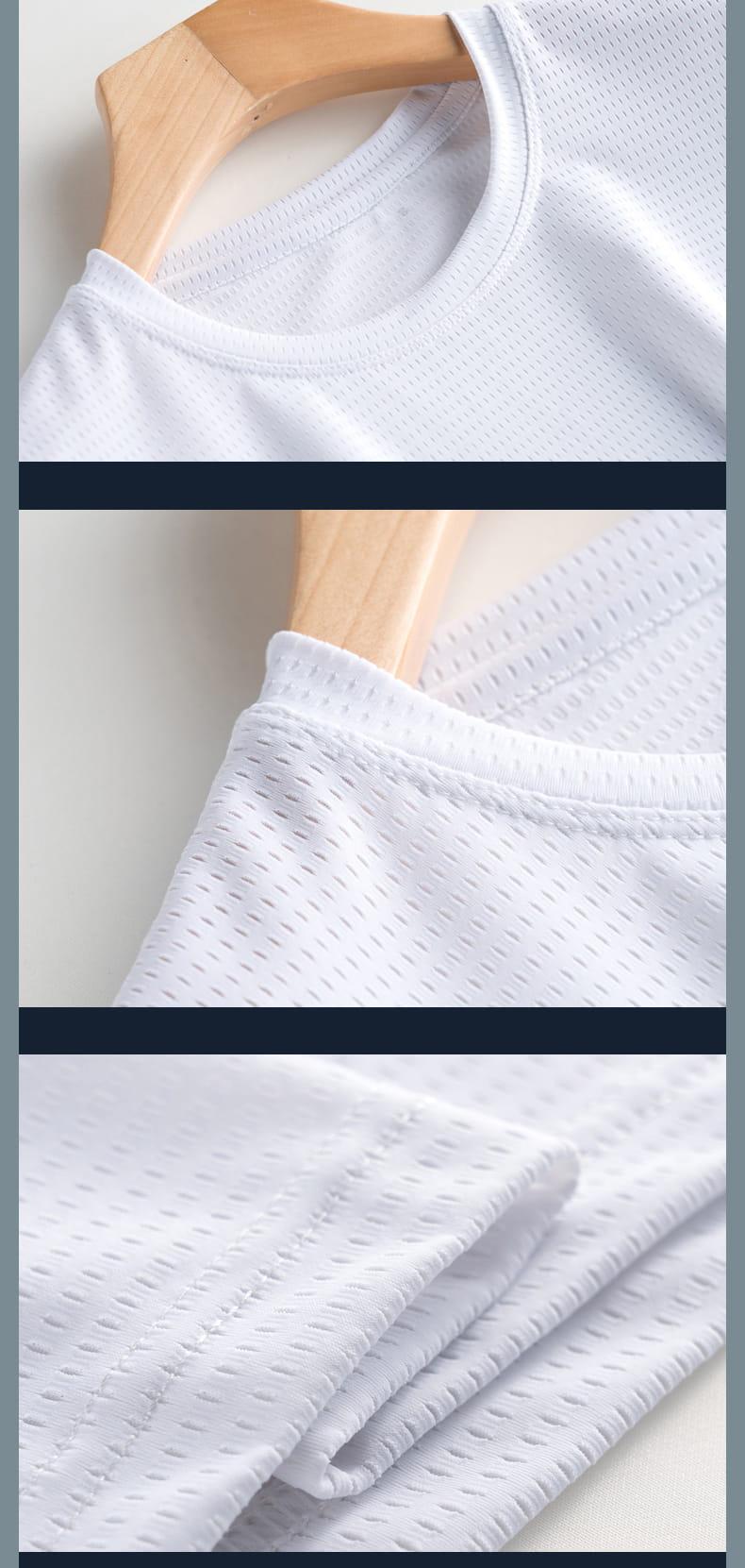 超薄涼透氣排汗速乾T恤 內搭外穿舒爽運動上衣 情侶款 網眼T恤 10