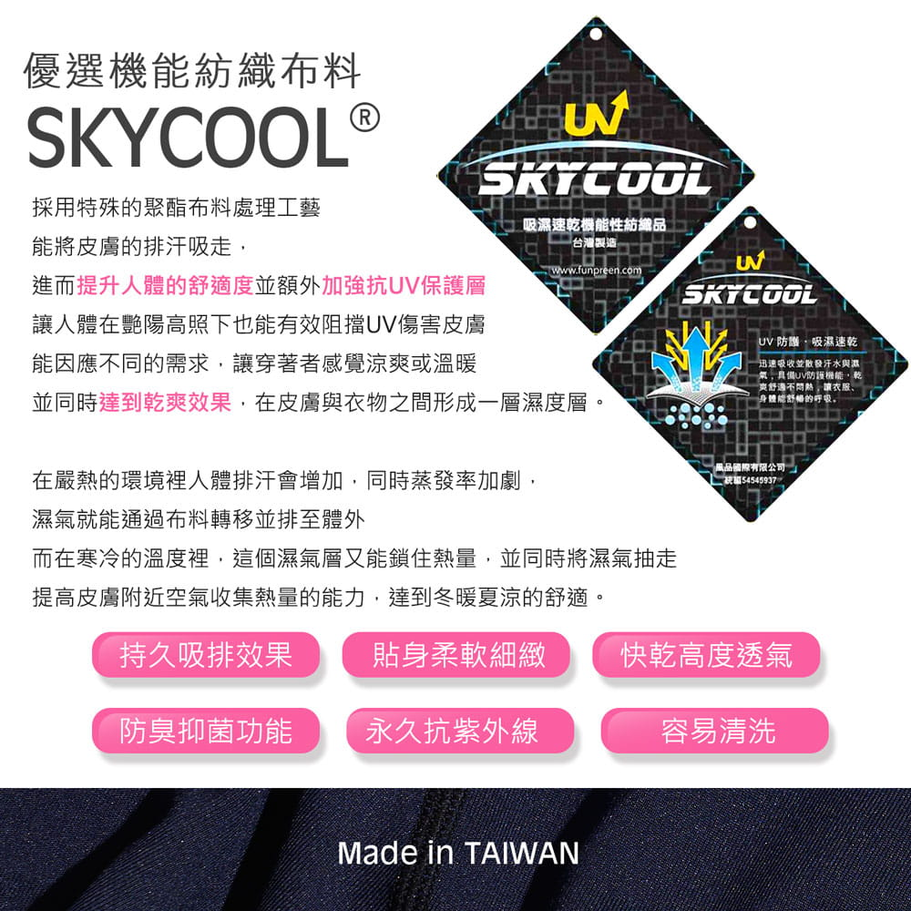 【GIAT】台灣製UPF50+防曬機能運動排汗褲(男女款) 2