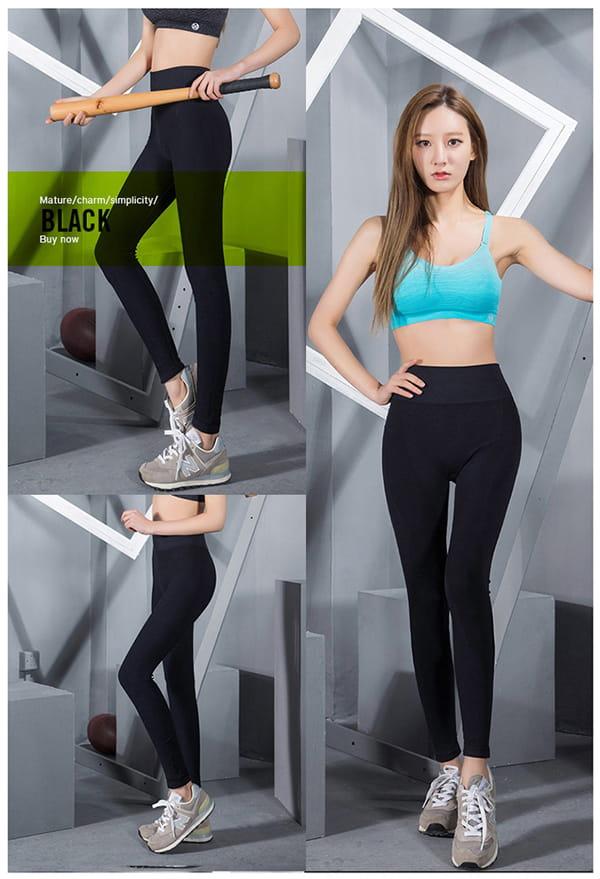 高腰運動健身壓力褲 12