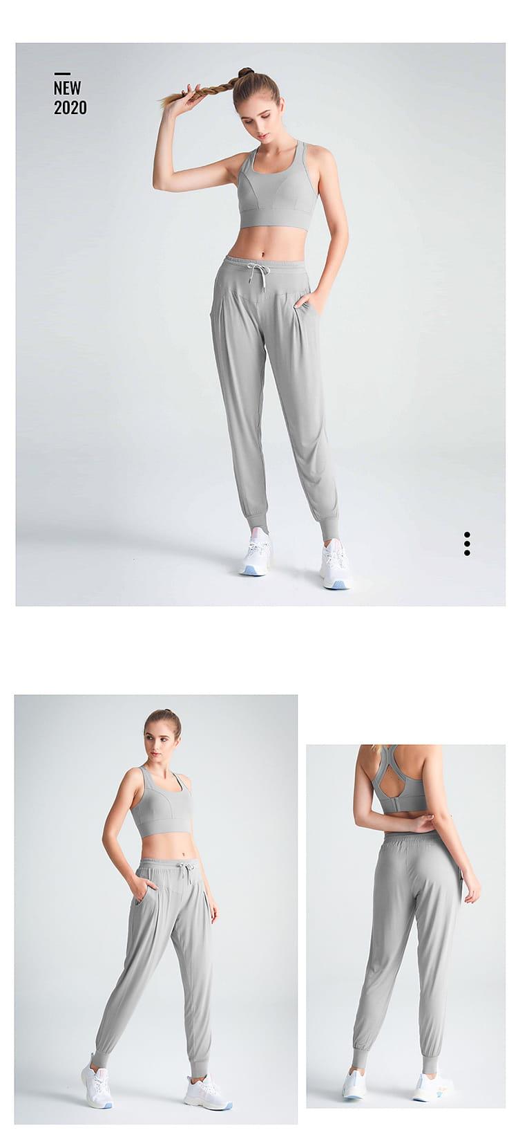 【JAR嚴選】速乾透氣哈倫褲瑜珈褲九分褲 14