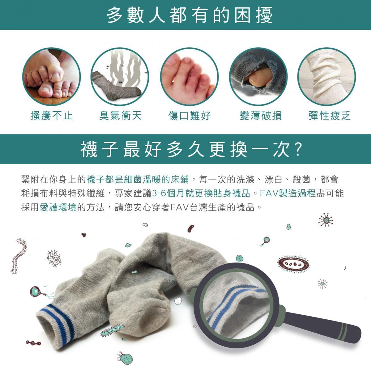 【FAV】運動加大除臭數字襪(單隻販售) 10