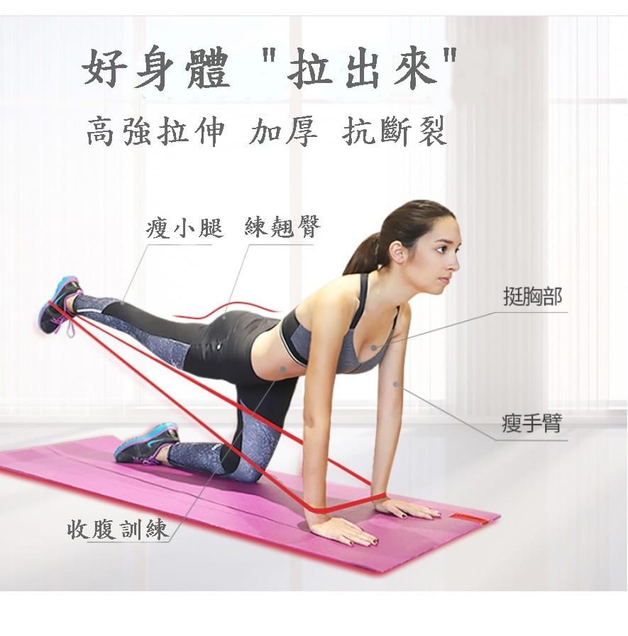 【CAIYI 凱溢】天然乳膠 專業加強版加厚型 力量訓練彈力帶 健身阻力帶 拉力圈 橘色 5