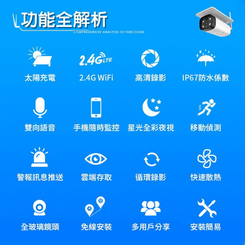 【Leisure】星光級夜視 WIFI太陽能監視器 買就送4顆原廠電池 監視器 無線監視器 戶外監視器 20
