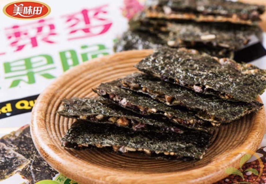 【美味田】香脆濃 乳酪海苔脆片 海苔 原味 紅黎麥 3