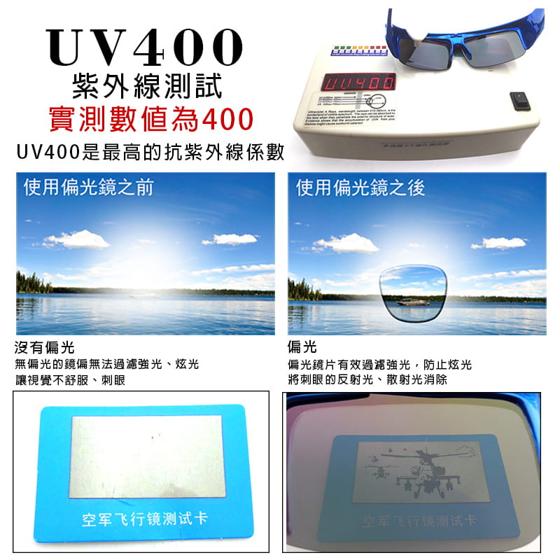 【suns】運動偏光REVO電鍍上翻式太陽眼鏡(可套鏡) 6