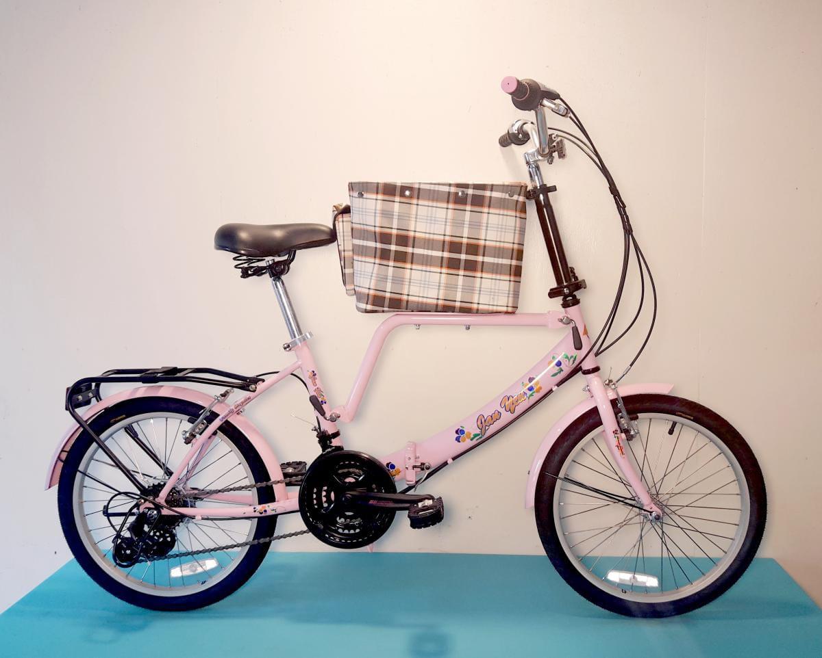 台製 20吋 21速 SHIMANO 摺疊 中籃 寵物腳踏車 2