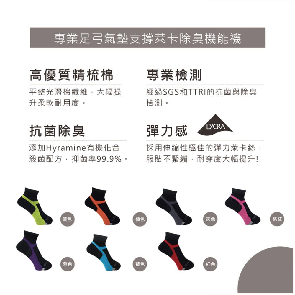 【DR.WOW】足弓氣墊支撐除臭機能襪-女款 4