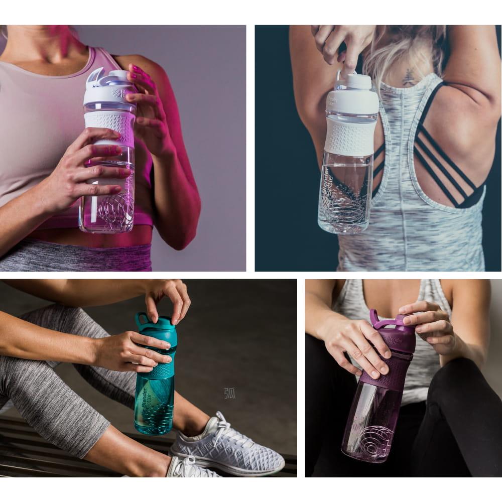 【Blender Bottle】SportMixer系列|新款曲線透亮搖搖杯|28oz|5色 5