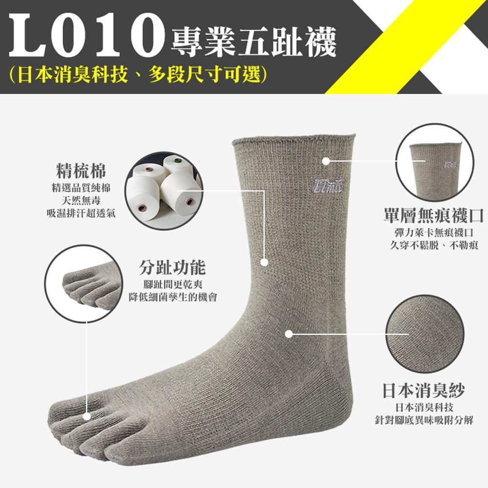 【力美特機能襪】專業五趾襪(灰) 0