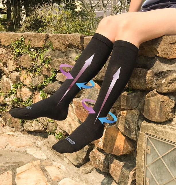 【力美特機能襪】彈力機能壓力襪(黑) 8