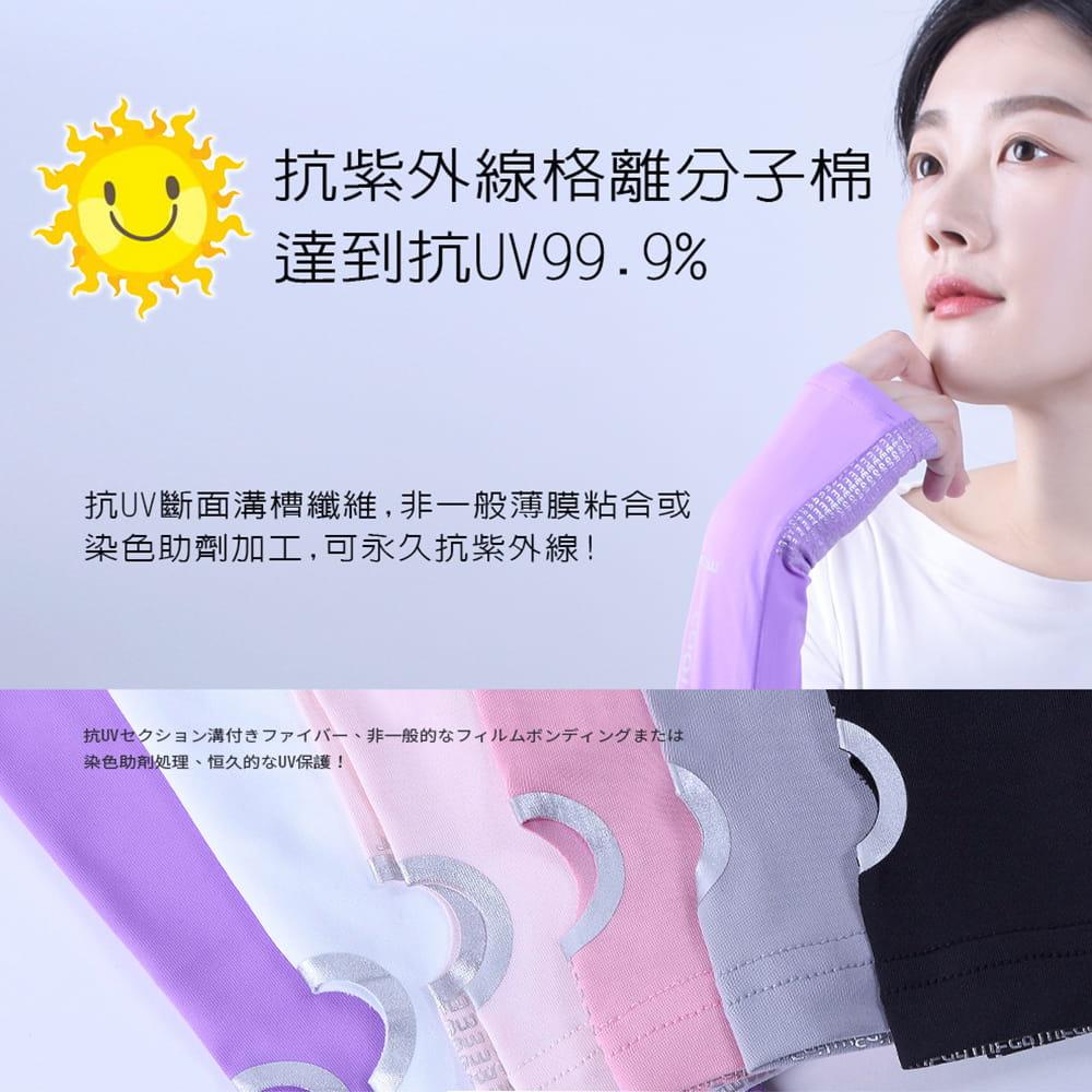【MEGA COOUV】女款 防曬冰感止滑手掌款袖套(冰涼袖套 機車袖套 止滑袖套 手蓋袖套) 3