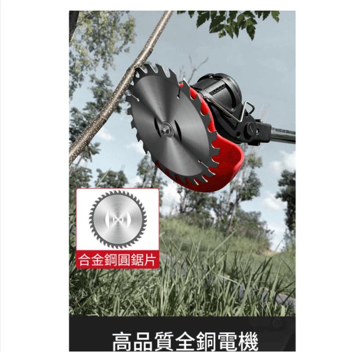 12h快速出貨 電動割草機 除草機 充電式無線充電割草機 園林多功能剪草打草機家用工業48v2電一充 6